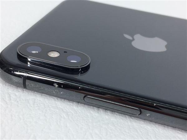 【中古】【安心保証】 iPhoneXSMax[256GB] SIMロック解除 au スペースグレイ