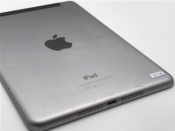 【中古】【安心保証】 iPadmini3 7.9インチ[64GB] SIMフリー スペースグレイ
