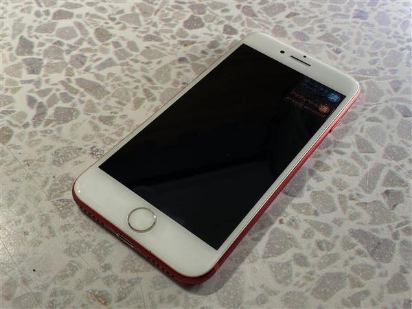 【中古】【安心保証】 SoftBank iPhone7[256G BT] レッド