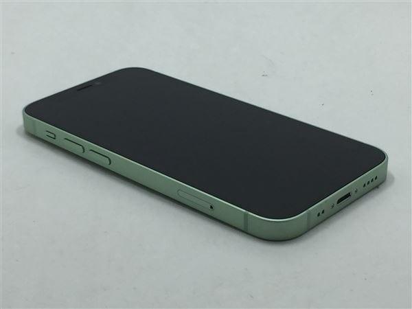 【中古】【安心保証】 iPhone12mini[256GB] SIMフリー グリーン
