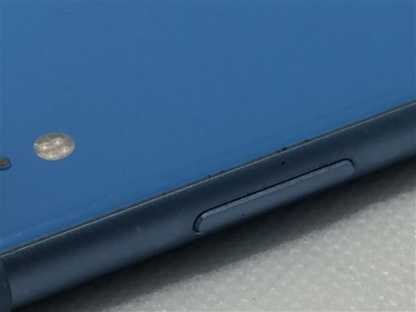 【中古】【安心保証】 iPhoneXR[64GB] SIMロック解除 SoftBank ブルー