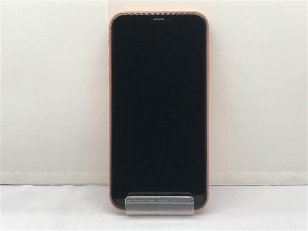 【中古】【安心保証】 iPhoneXR[64GB] SIMロック解除 au コーラル