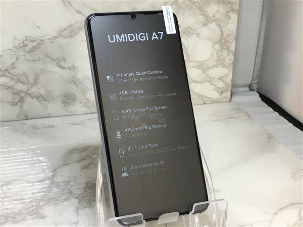 【中古】【安心保証】 SIMフリー UMIDIGI A7[64G] スペースグレー