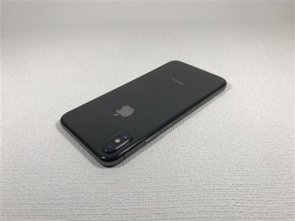 【中古】【安心保証】 iPhoneX[64GB] SIMロック解除 docomo スペースグレイ