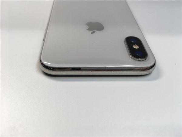 【中古】【安心保証】 iPhoneX[256GB] SoftBank NQC22J シルバー