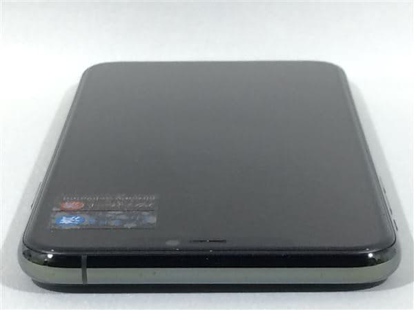 【中古】【安心保証】 iPhone11 Pro Max[256GB] SIMフリー ミッドナイトグリーン