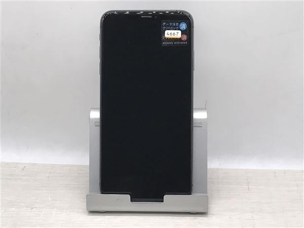 【中古】【安心保証】 iPhoneXSMax[256GB] au MT6U2J スペースグレイ