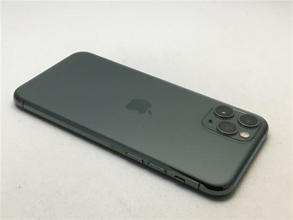 【中古】【安心保証】 iPhone11 Pro[256GB] SoftBank MWCC2J ミッドナイトグリーン