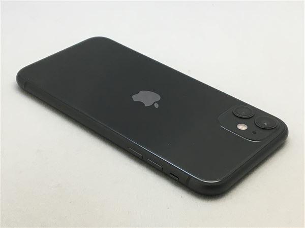 【中古】【安心保証】 iPhone11[128GB] docomo MWM02J ブラック