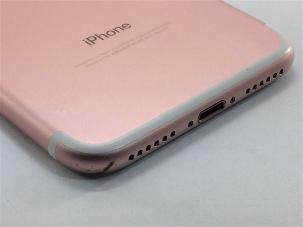 【中古】【安心保証】 iPhone7[32GB] au MNCJ2J ローズゴールド