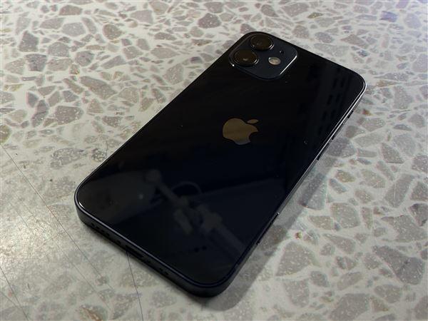 【中古】【安心保証】 iPhone12mini[64GB] SoftBank MGA03J ブラック