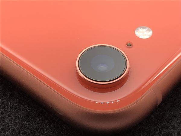 【中古】【安心保証】 iPhoneXR[64GB] SIMフリー コーラル