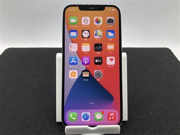 【中古】【安心保証】 iPhone12ProMax[128GB] au MGCV3J シルバー