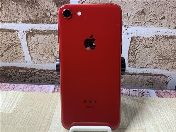 【中古】【安心保証】 iPhone8[256GB] au MRT02J レッド