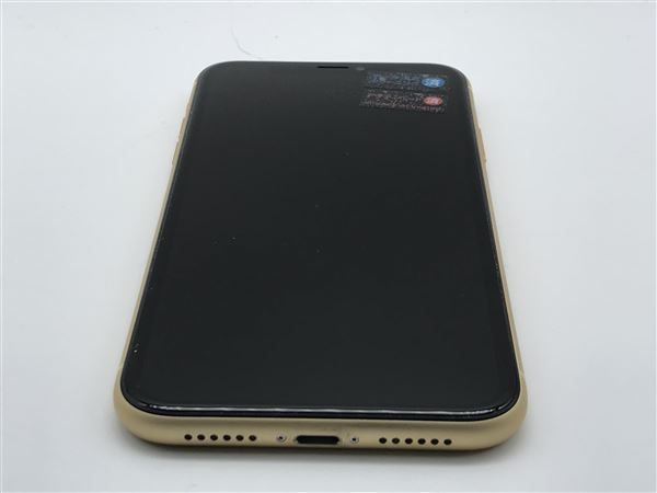【中古】【安心保証】 iPhoneXR[64GB] SIMロック解除 au イエロー