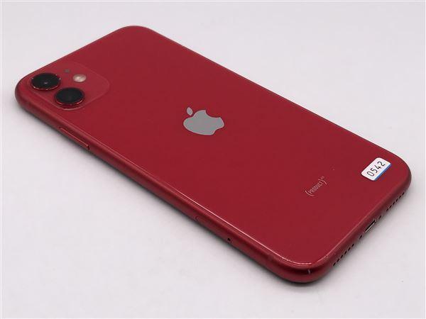 【中古】【安心保証】 iPhone11[128GB] au MWM32J レッド