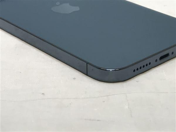 【中古】【安心保証】 iPhone12ProMax[128GB] SoftBank MGCX3J パシフィックブルー