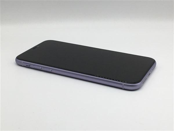 【中古】【安心保証】 iPhone11[256GB] SIMフリー パープル
