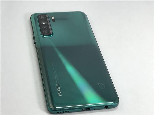 【中古】【安心保証】 SIMフリー P40 lite CDYNX9A[128GB] (5G) クラッシュグリーン