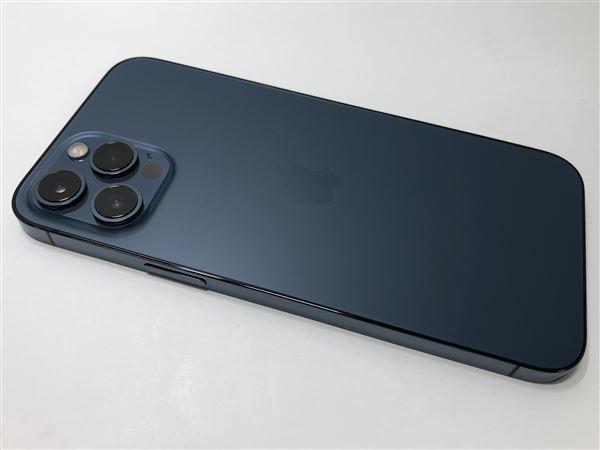 【中古】【安心保証】 iPhone12ProMax[256GB] au MGD23J パシフィックブルー