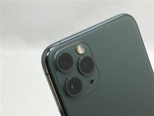 【中古】【安心保証】 iPhone11 Pro Max[256GB] au NWHM2J ミッドナイトグリーン