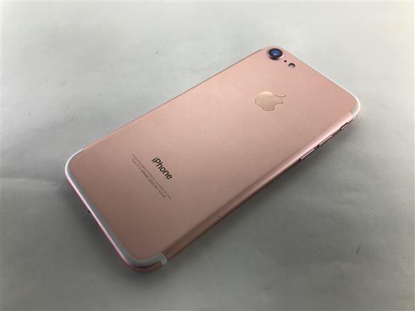 【中古】【安心保証】 iPhone7[128GB] SIMロック解除 au ローズゴールド