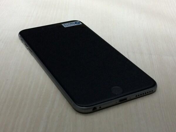 【中古】【安心保証】 au iPhone6Plus[128G] スペースグレイ