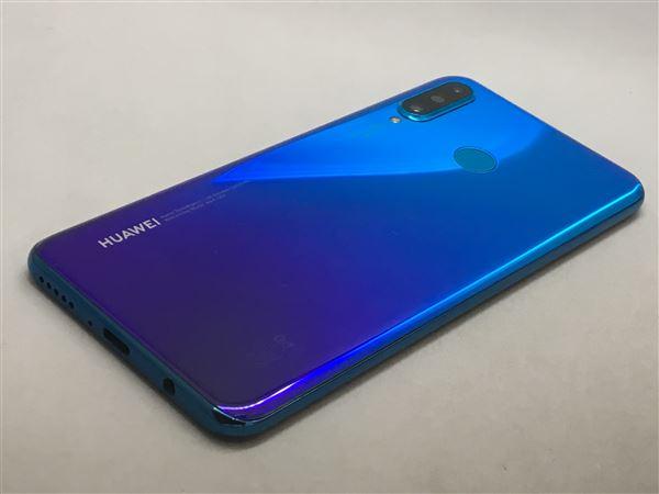 【中古】【安心保証】 Y!mobile HUAWEI P30 lite ピーコックブルー