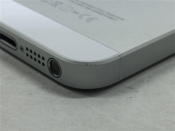 【中古】【安心保証】 iPhoneSE[64GB] au MLM72J シルバー