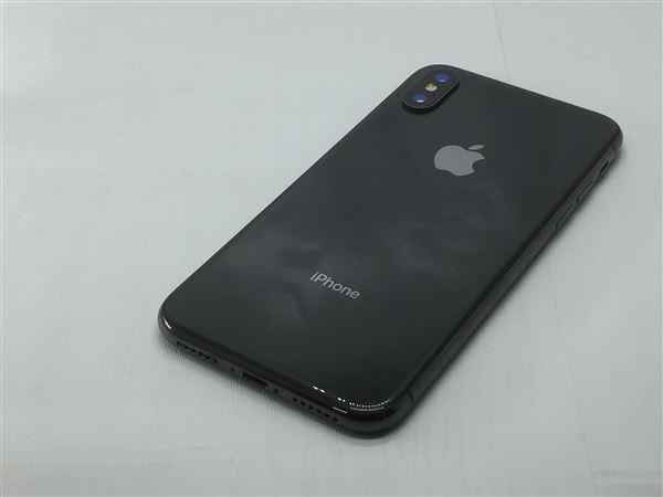 【中古】【安心保証】 iPhoneX[256GB] SIMロック解除 SoftBank スペースグレイ