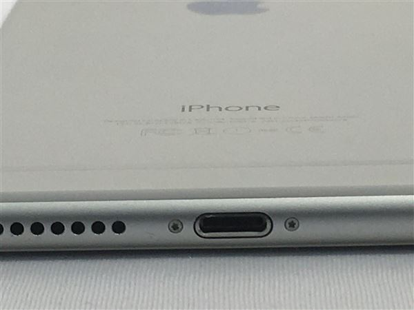 【中古】【安心保証】 au iPhone6Plus[128G] シルバー