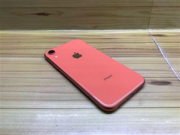 【中古】【安心保証】 iPhoneXR[128GB] SIMフリー コーラル