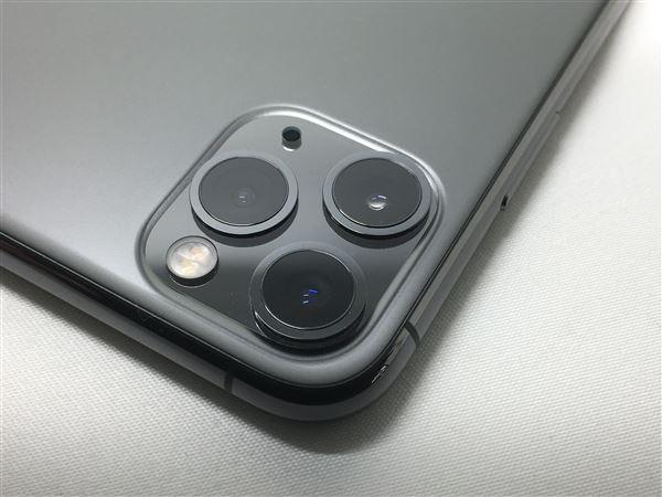 【中古】【安心保証】 iPhone11 Pro Max[256GB] SIMフリー スペースグレイ