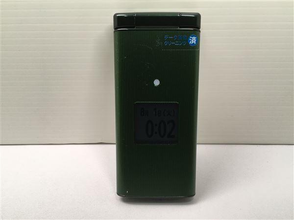 【中古】【安心保証】 au KYF36 グリーン