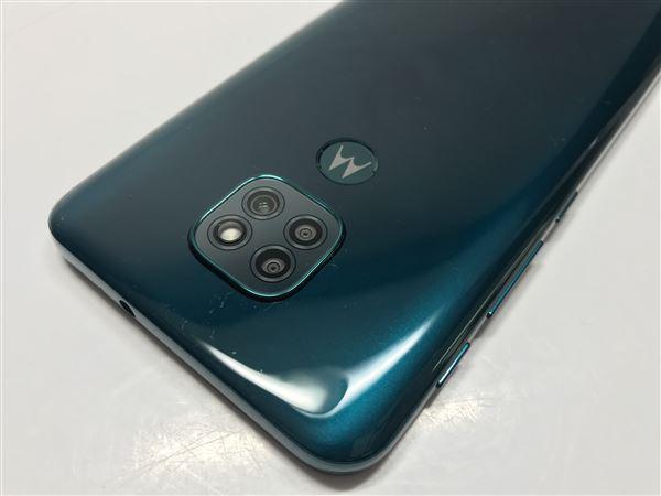 【中古】【安心保証】 SIMフリー Moto G9 Play[64G] グリーン