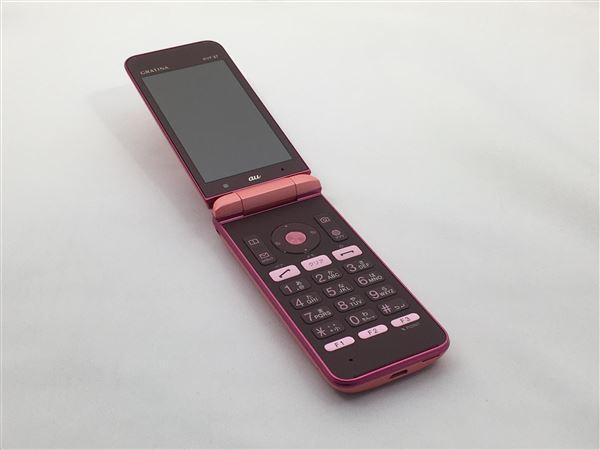 【中古】【安心保証】 au KYF37 ピンク
