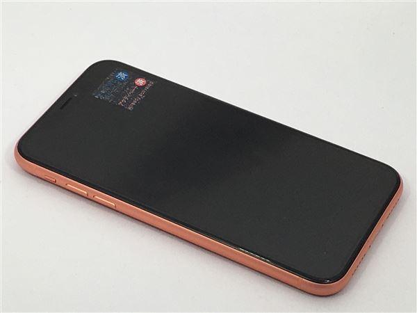 【中古】【安心保証】 iPhoneXR[128GB] SIMロック解除 SoftBank コーラル