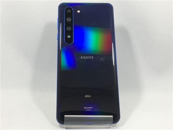 【中古】【安心保証】 au SHG01[256GB] (5G) アースブルー