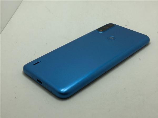 【中古】【安心保証】 SIMフリー moto e7 power[32G] ブルー