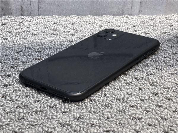 【中古】【安心保証】 iPhone11[256GB] UQモバイル MWM72J ブラック