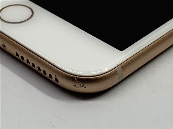 【中古】【安心保証】 iPhone8Plus[64GB] au MQ9M2J ゴールド