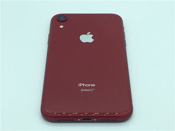 【中古】【安心保証】 iPhoneXR[64GB] SIMフリー レッド
