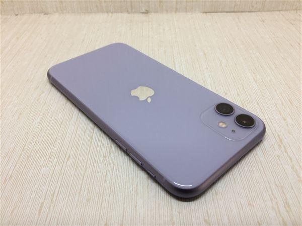 【中古】【安心保証】 iPhone11[64GB] UQモバイル MHDF3J パープル