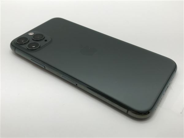 【中古】【安心保証】 iPhone11 Pro[64GB] SIMロック解除 docomo ミッドナイトグリーン