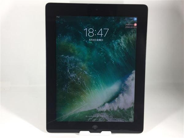 【中古】【安心保証】 iPad4/iPadRetinaディスプレイ 9.7インチ[16GB] Wi-Fiモデル ブラック