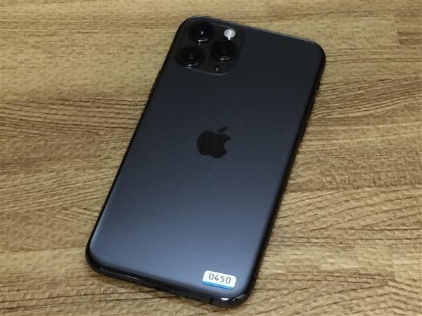 【中古】【安心保証】 iPhone11 Pro[64GB] SIMフリー スペースグレイ