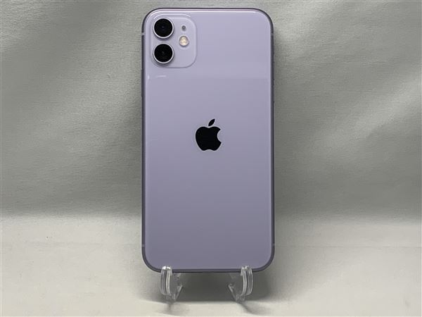 【中古】【安心保証】 iPhone11[64GB] SIMロック解除 docomo パープル