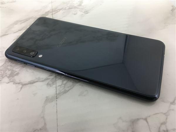 【中古】【安心保証】 楽天モバイル Galaxy A7 ブラック