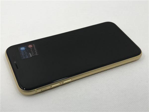 【中古】【安心保証】 iPhoneXR[128GB] SIMロック解除 docomo イエロー