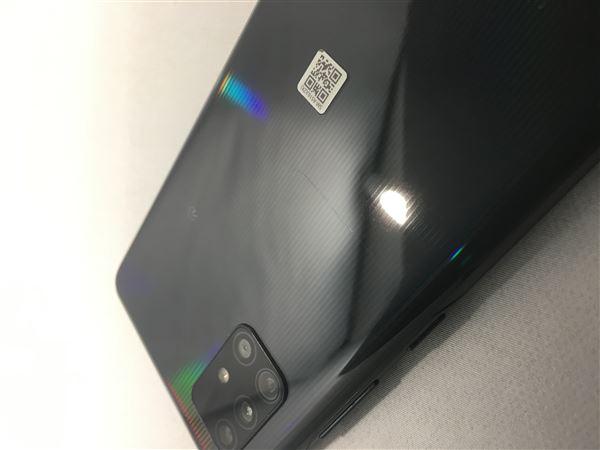 【中古】【安心保証】 au Galaxy A51 5G プリズムブリックスブラック